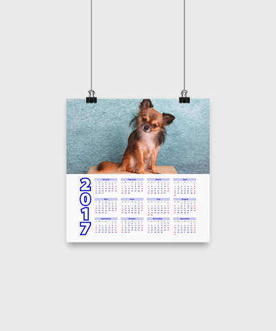"Chihuahua - Calendar Poster 10""x10"" - Unique Gifts Store"