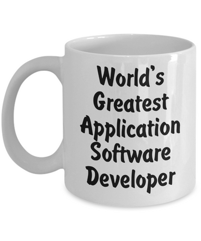 World's Greatest Application Software Developer v2 - 11oz Mug