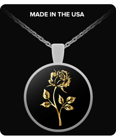 Gold Rose - Necklace - Unique Gifts Store