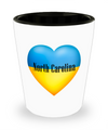 Ukrainian In North Carolina - Shot Glass - Unique Gifts Store