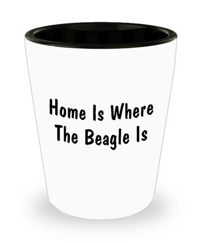 Beagle's Home - Shot Glass - Unique Gifts Store