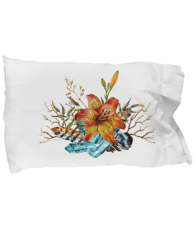 Tiger Lily Bouquet - Pillow Case