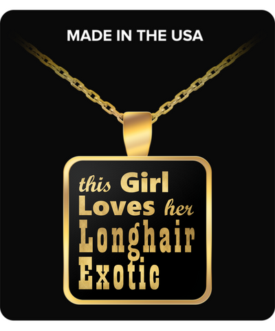 Longhair Exotic - Gold Plated Necklace - Unique Gifts Store