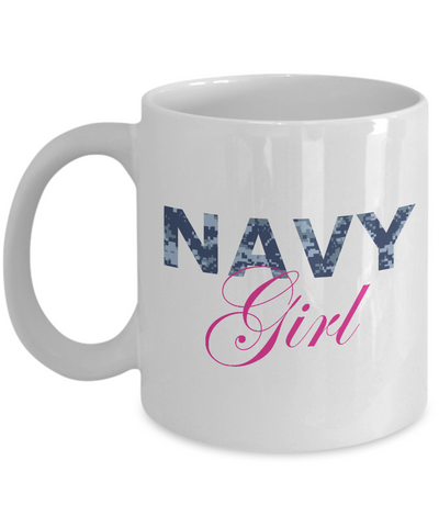 Navy Girl - 11oz Mug - Unique Gifts Store