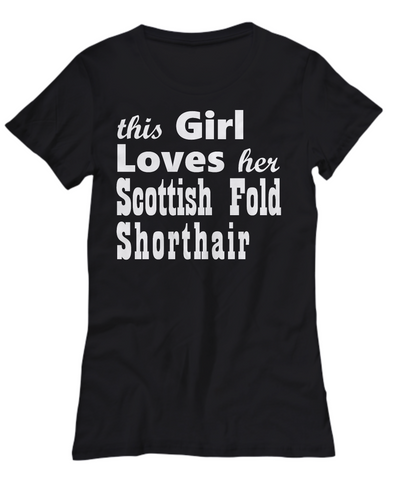 Scottish Fold Shorthair - Women's Tee - Unique Gifts Store
