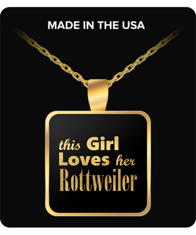 Rottweiler - Gold Plated Necklace - Unique Gifts Store