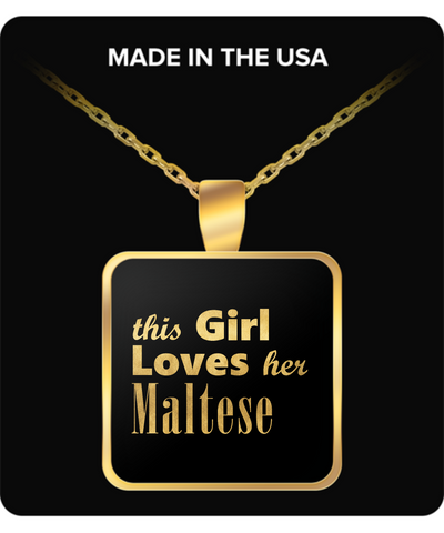 Maltese - Gold Plated Necklace - Unique Gifts Store