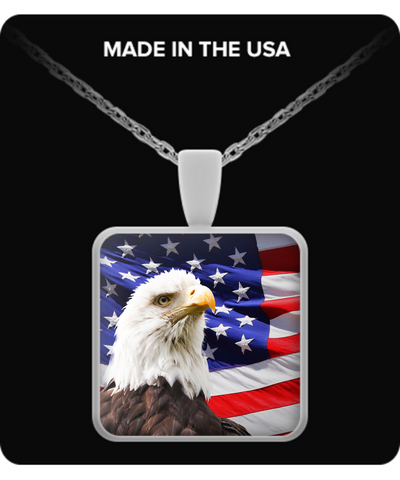 The American Eagle and Flag - Necklace - Unique Gifts Store