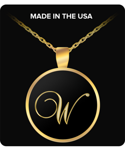 Initial W - Gold Plated Necklace - Unique Gifts Store