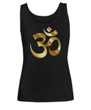Golden Om Symbol - Women's Tank Top - Unique Gifts Store