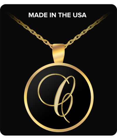 Initial C - Gold Plated Necklace