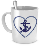 Nautical Heart - 11oz Mug - Unique Gifts Store