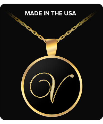Initial V - Gold Plated Necklace - Unique Gifts Store
