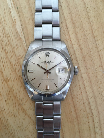 Rolex Oyster Perpetual Date Stainless Steel Ref 1500