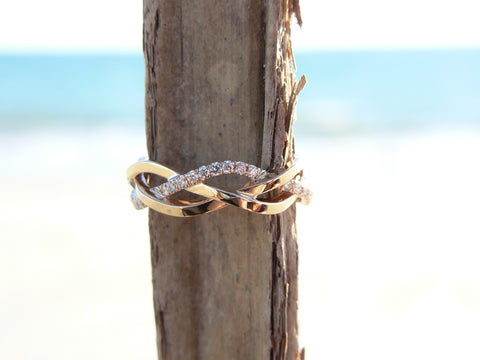 Gold and Diamond Bridal Band