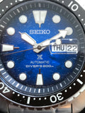 Seiko SRPE39 Blue Dial Showing Made in Japan and Manta Ray