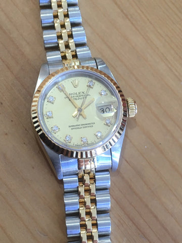 Rolex Watch Datejust Lady Ref 69173 factory Diamond Dial