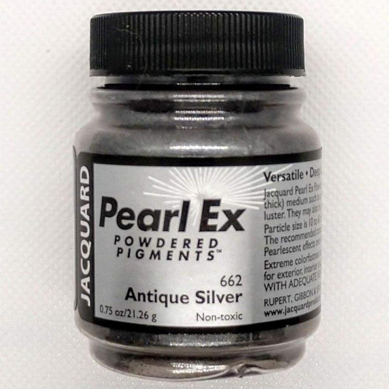 Antique Silver Pearl Ex Powdered Pigments by Jacquard - Antique Silver - Mica Powder - The Epoxy Resin Store