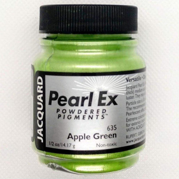 Apple Green Pearl EX Powder Pigment - Jacquard 14 grams - Apple Green 14.17 grams - Mica Powder - The Epoxy Resin Store