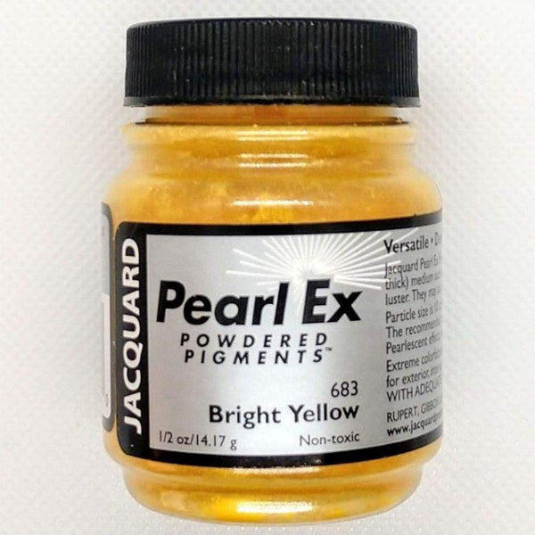 Bright Yellow Pearl EX Powder Pigment - Jacquard 14 grams - Bright Yellow 14 grams - Mica Powder - The Epoxy Resin Store