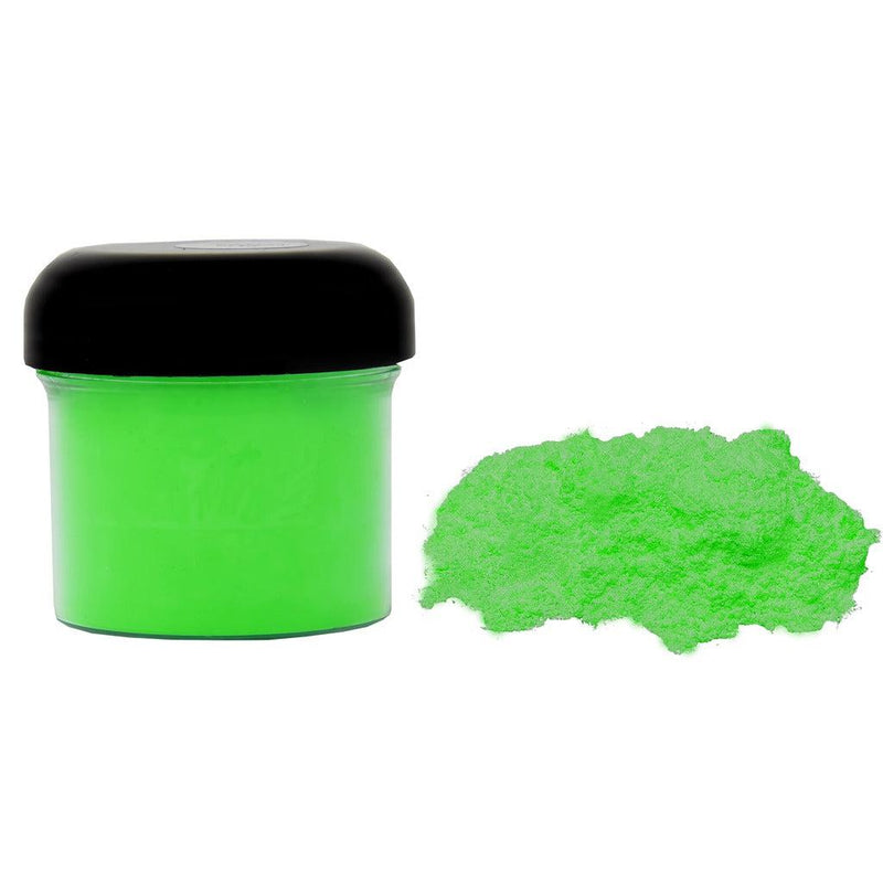 Flo green powdered pigment