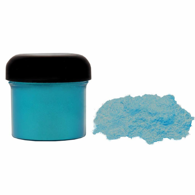 Blue green powdered pigment