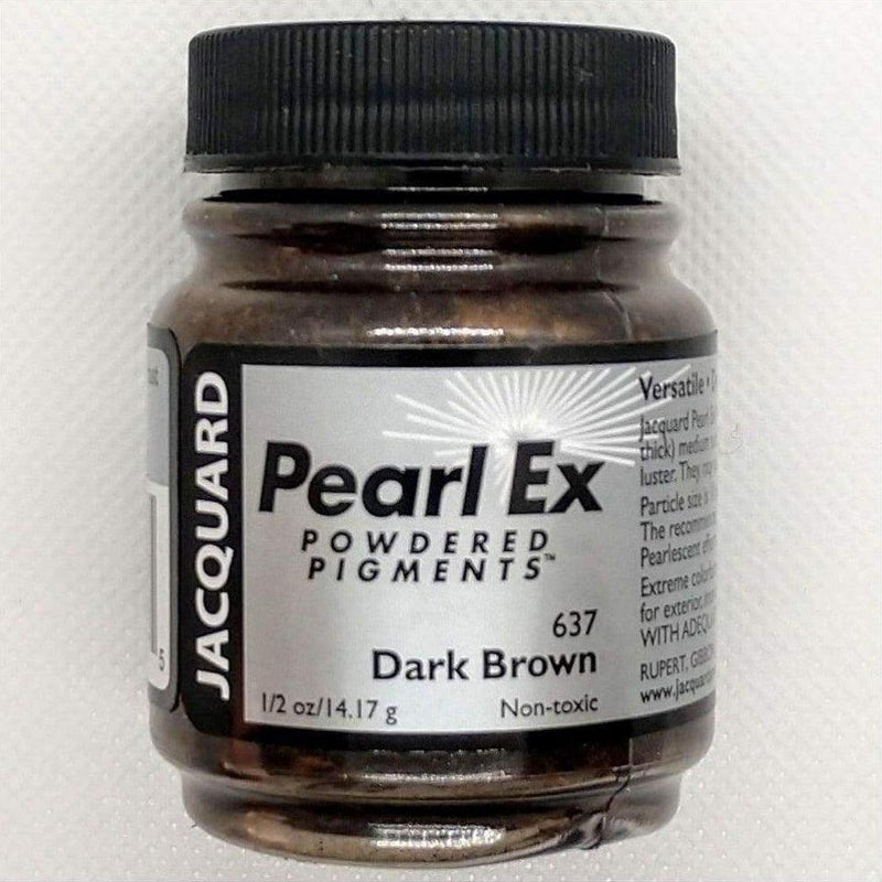 Dark Brown Pearl Ex Powdered Pigments by Jacquard - Dark Brown - Mica Powder - The Epoxy Resin Store