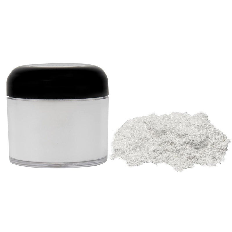 Flash white powdered pigment