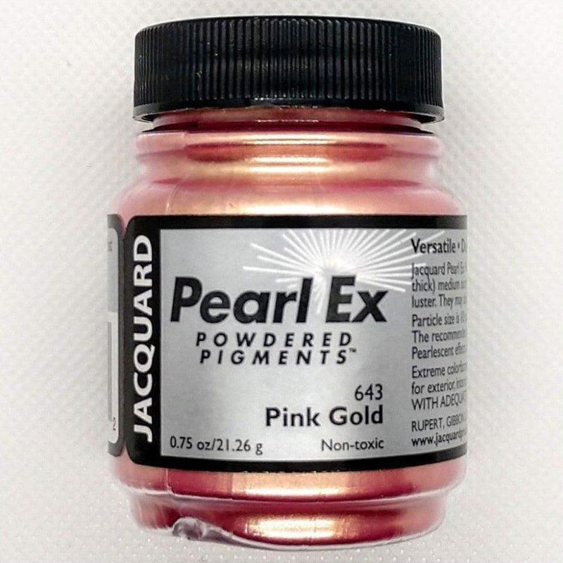 Pink Gold Pearl EX Powder Pigment - Jacquard 21 grams - Pink Gold 21 grams - Mica Powder - The Epoxy Resin Store