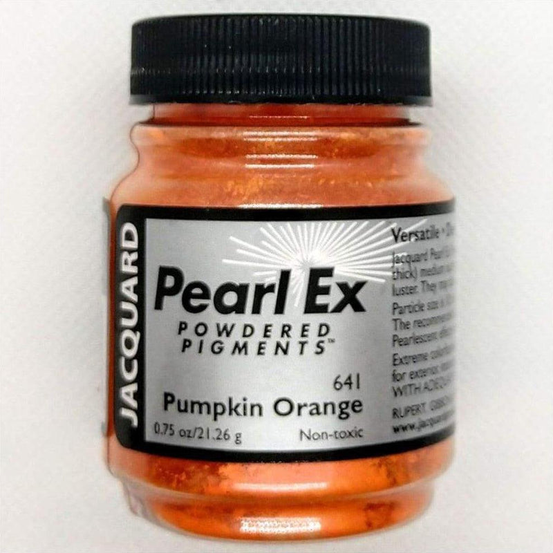 Pumpkin Orange Pearl EX Powder Pigment - Jacquard 21 grams - Pumpkin Orange 21 grams - Mica Powder - The Epoxy Resin Store