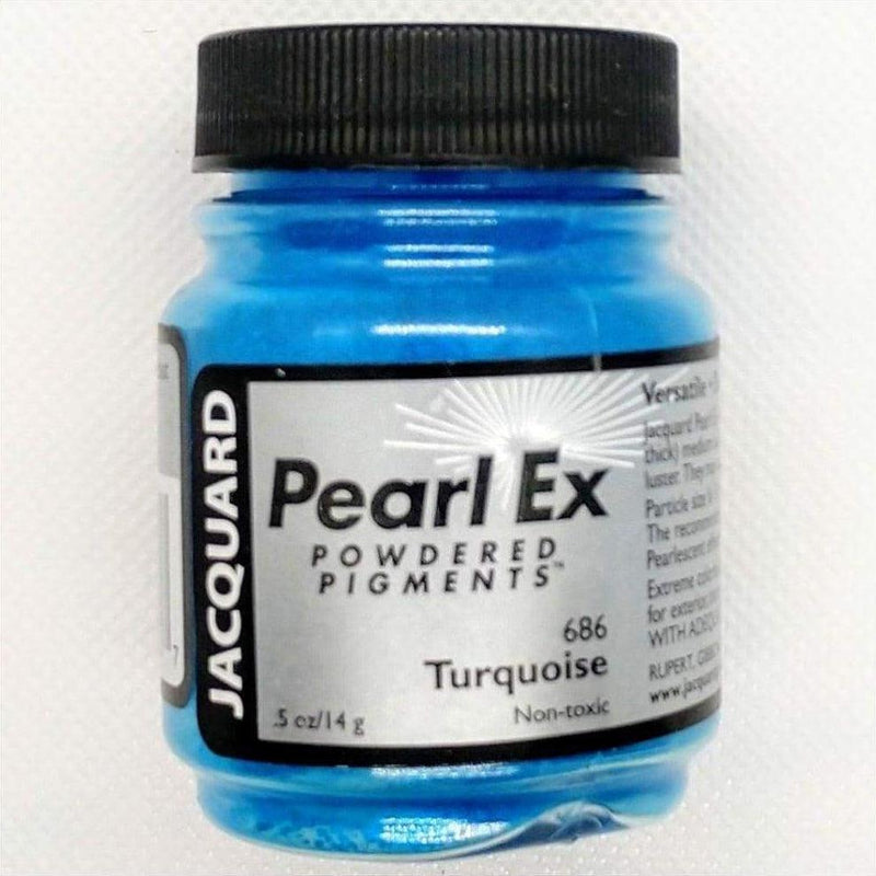 Turquoise Pearl EX Powder Pigment - 14 grams - Turquoise 14 grams - Mica Powder - The Epoxy Resin Store