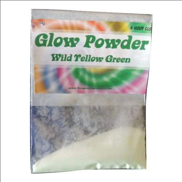 Yellow Green Glow Powder - 10 grams - Pigment Glow Powder - The Epoxy Resin Store