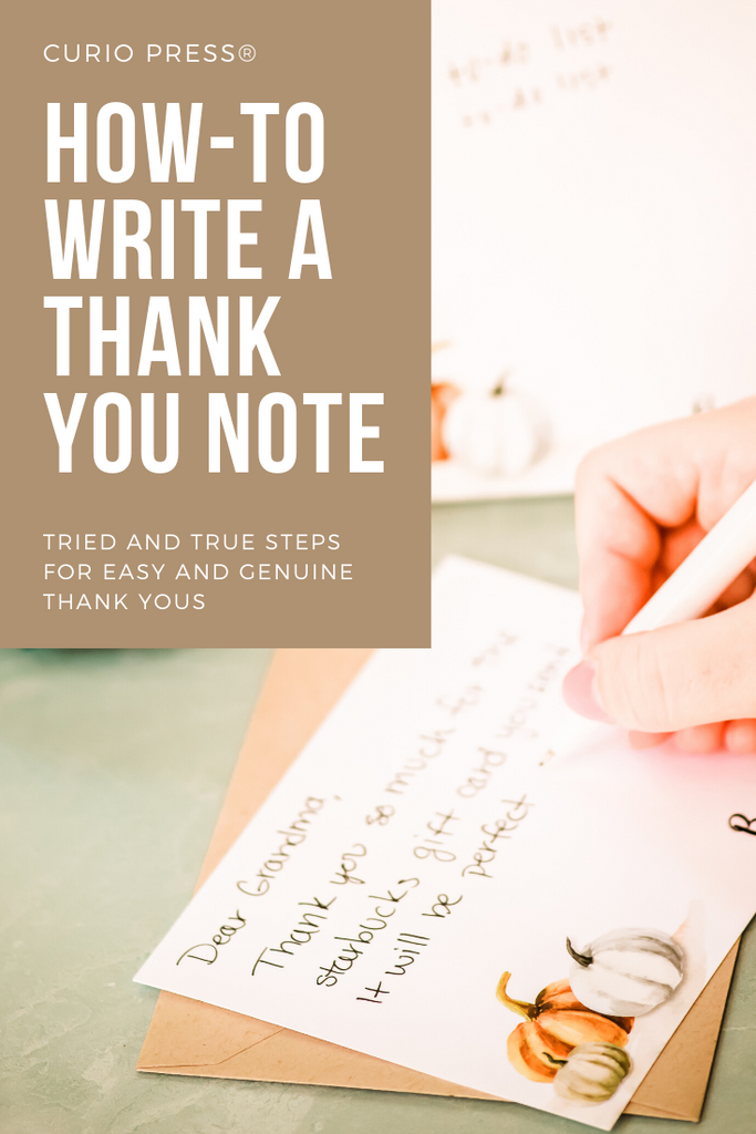 How to Guide for writing great thank you notes
