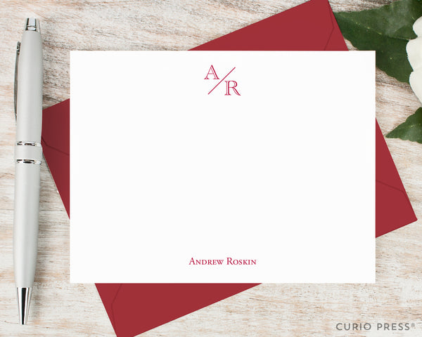 Academy Monogram Flat Card Set - Curio Press