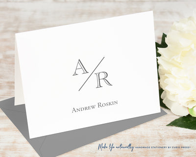 Academy Monogram Folded Card Set