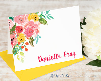 Adeline Florals: Folded Card Set