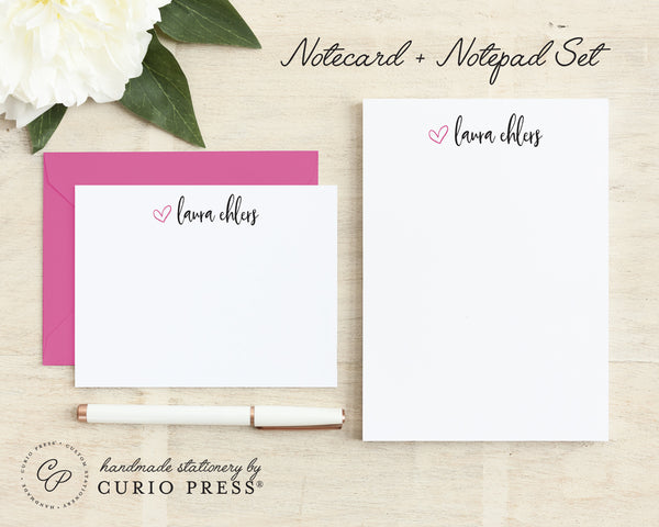 Adorable: Flat Card + Notepad Set - Curio Press