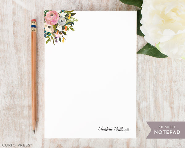 Amelia Florals I: Notepad - Curio Press