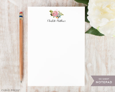 Amelia Florals II: Notepad - Curio Press