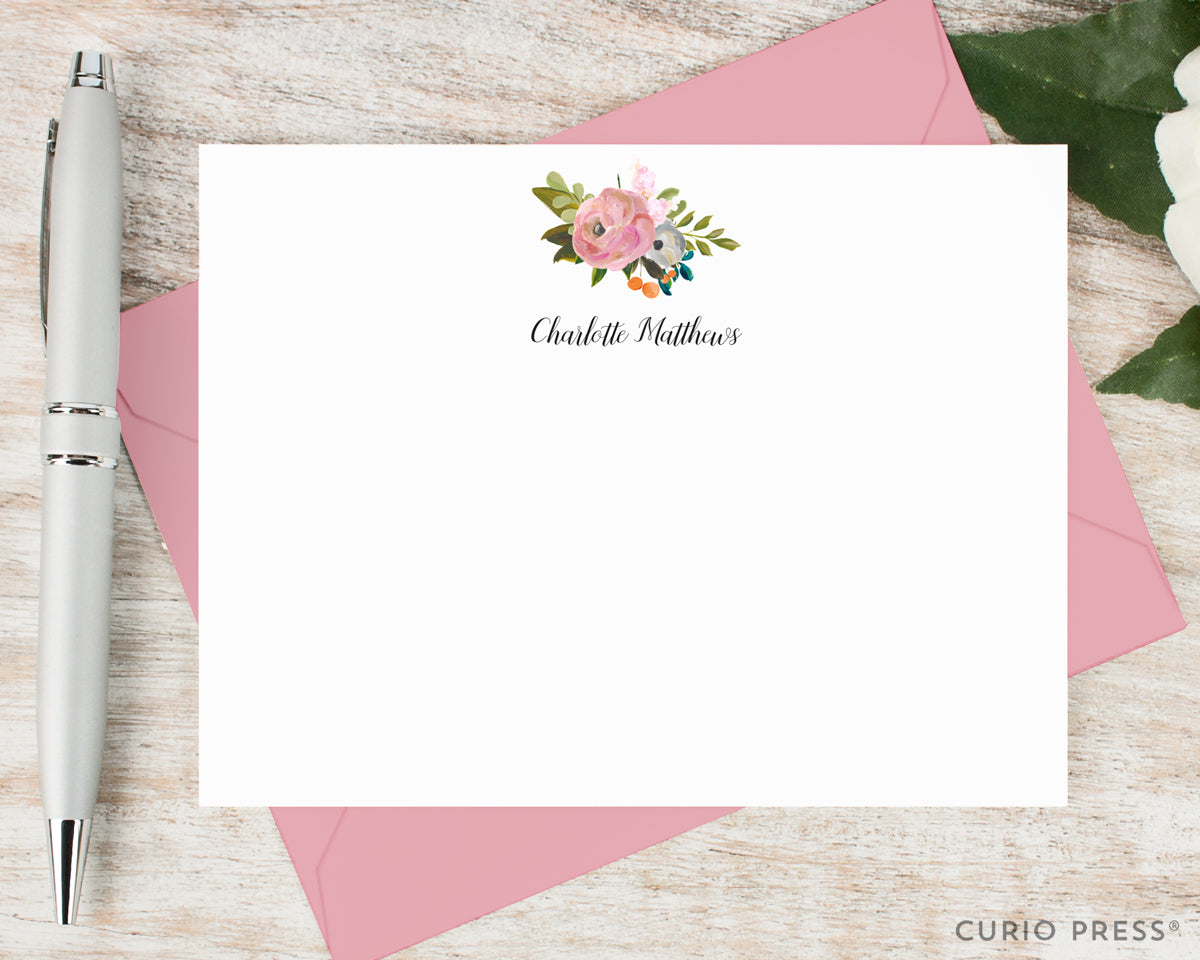 Amelia Florals II: Flat Card Set - Curio Press