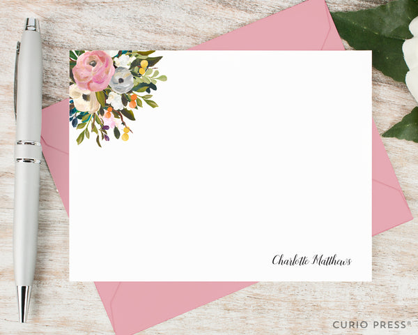 Amelia Florals I: Flat Card Set - Curio Press