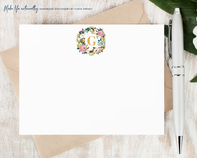 Amelia Monogram : Flat Card Set