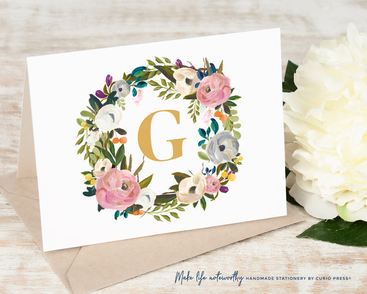Amelia Monogram: Folded Card Set