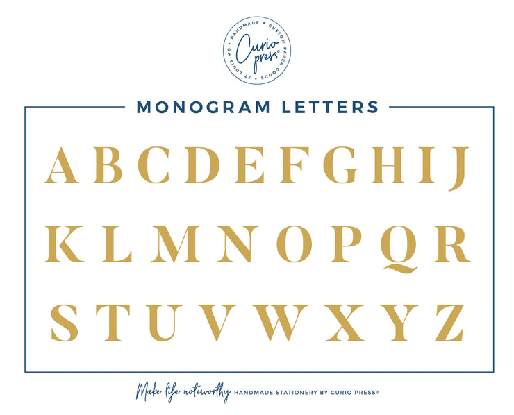 Amelia Monogram: Notepad