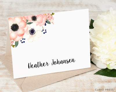 Anemone Florals: Folded Card Set - Curio Press
