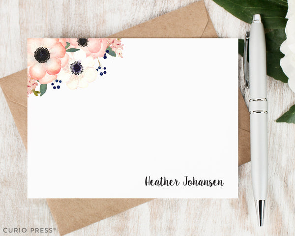 Anemone Florals : Flat Card Set - Curio Press