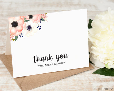 Anemone Florals Thank You: Folded Card Set - Curio Press