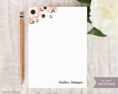 Anemone Florals: Notepad - Curio Press