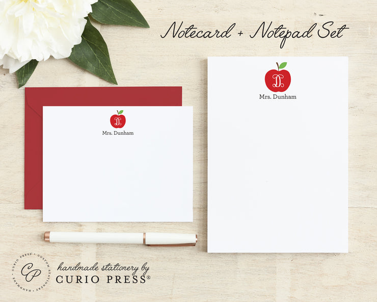 Apple: Flat Card + Notepad Set - Curio Press