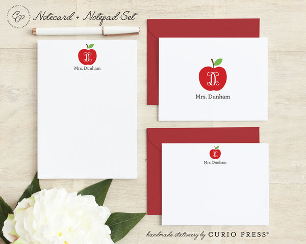 Apple: Folded + Flat + Notepad Set - Curio Press